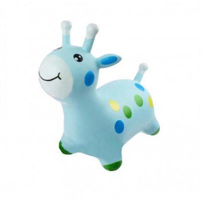 Детский резиновый прыгун-жираф (голубой)
