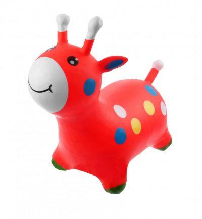 Детский резиновый прыгун-жираф (красный)
