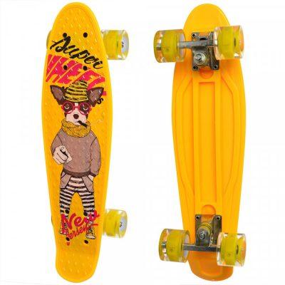 Детский скейт Profi с рисунком (MS 0749-8/желтый)