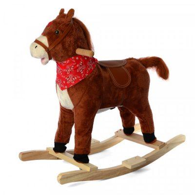 Детская-лошадка качалка со звуком «Метр+» (коричневая)