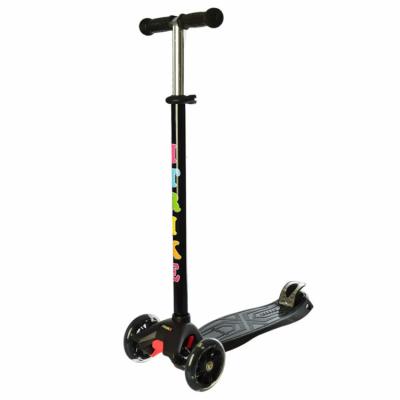 Детский самокат iTrike «Scooter» со светящимися колесами (черный)