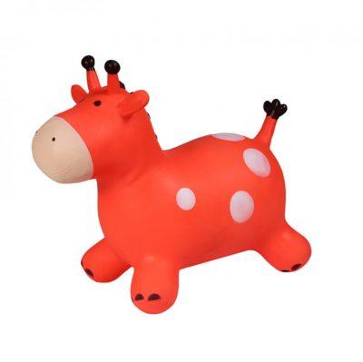 Детский резиновый прыгун «Жирафик» (красный)