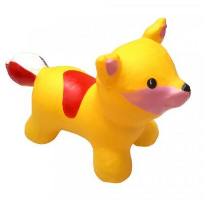 Детский резиновый прыгун-лисица (желтый)