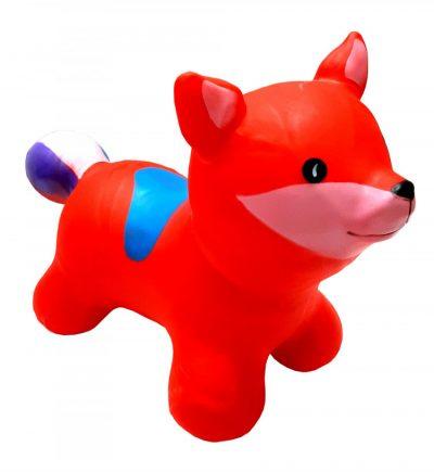 Детский резиновый прыгун-лисица (красный)