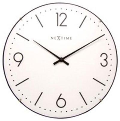 Часы настенные «Basic Dome» белые Ø35 см
