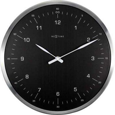 Часы настенные «60 Minutes», черные Ø33 см