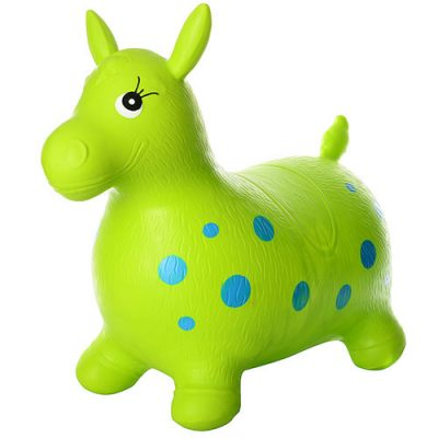 Детский прыгун-лошадка (зеленый MS 0372)