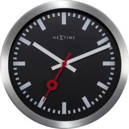 Часы настенные «Station», черные Ø19 см
