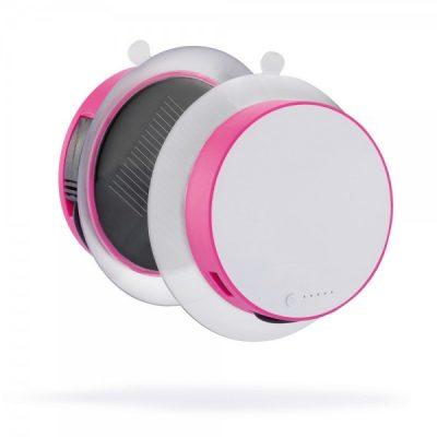 Зарядное устройство на солнечной батарее с Powerbank Port 1000 mAh , розовый