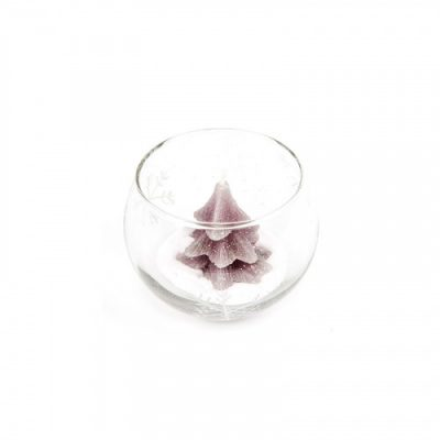 Свеча в стакане «Новогодняя елка»