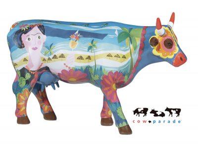 Коллекционная статуэтка корова Frida vai a Cancun