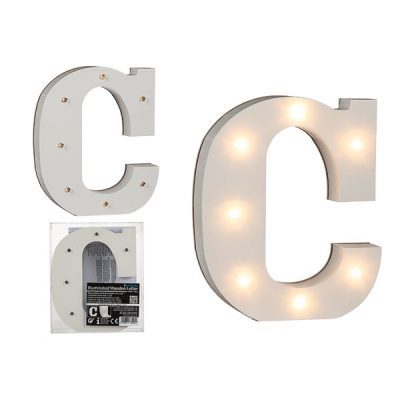 Буква С декоративная с LED подсветкой