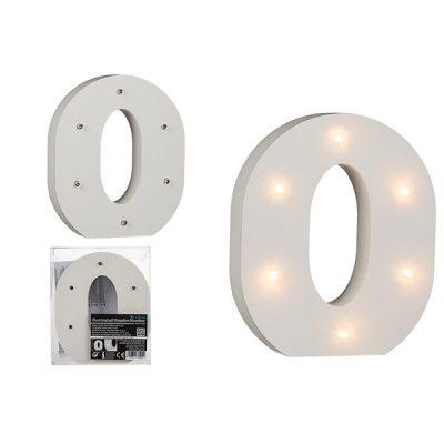 Буква О декоративная с LED подсветкой
