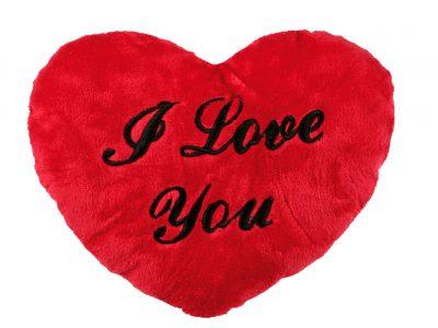 Сердце плюшевое «I Love You», большое