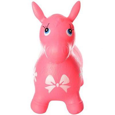Детский прыгун-лошадка (розовый MS 0372)