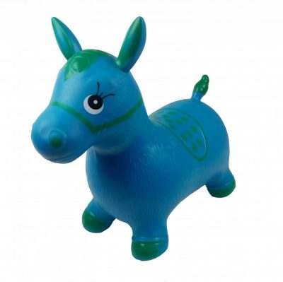 Детский прыгун-лошадка (синий)