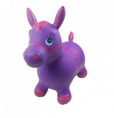 Детский прыгун-лошадка (фиолетовый)