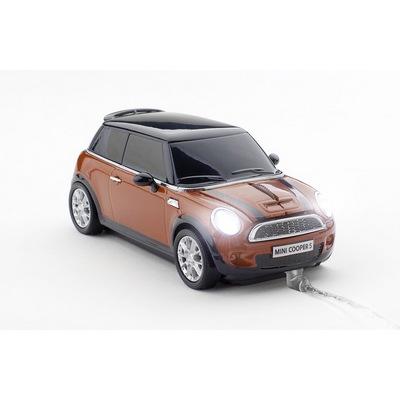 Мышка компьютерная «Mini Cooper», оранжевый