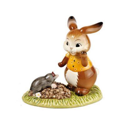 Статуэтка «Кролик с кротом»