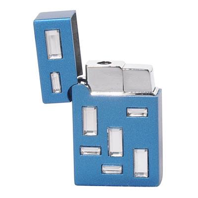 Зажигалка «Блестяще!», голубая