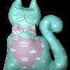 Подушка Хатка «Кот» мятный с серым