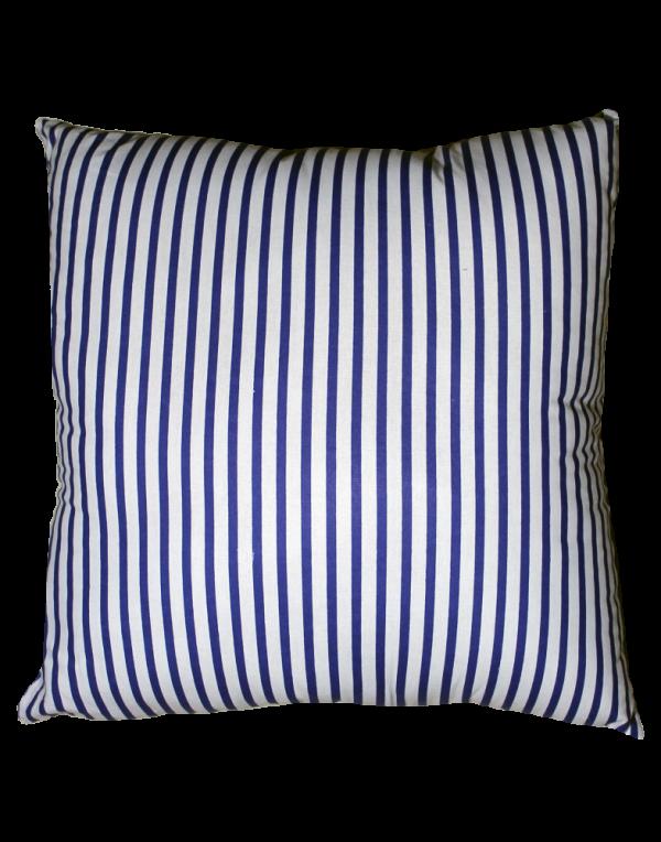 Подушка Хатка «Квадратная» белая с синим