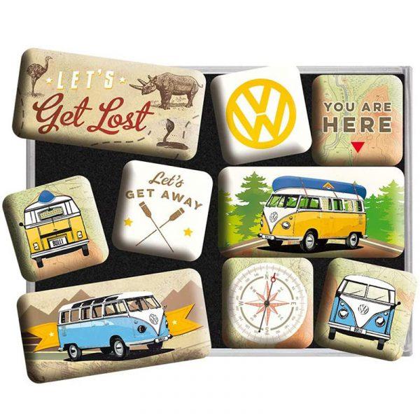 Набор магнитов «VW Bulli - Let's Get Lost»