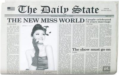 Коврик-фоторамка под посуду «Английские новости»