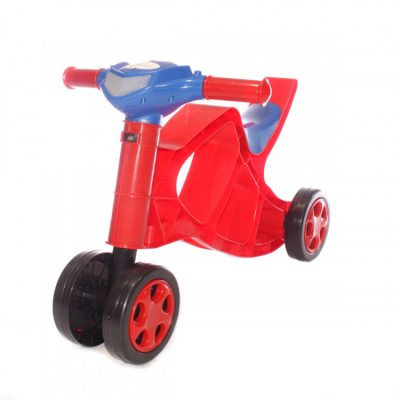 Детский беговел-минибайк Doloni Toys со звуком (крсано-синий)