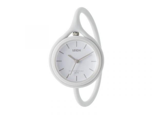 Часы универсальные Lexon Take Time с ремешком из силикона, белые