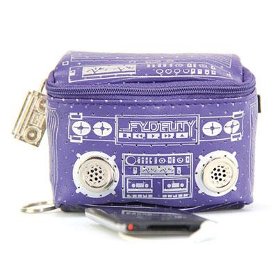 Мини-сумка с динамиками «Le Boom Box», фиолетовая