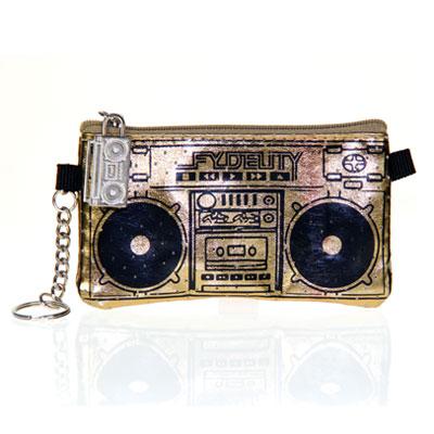 Бумажник с динамиками «Le Boom Box», золотистый