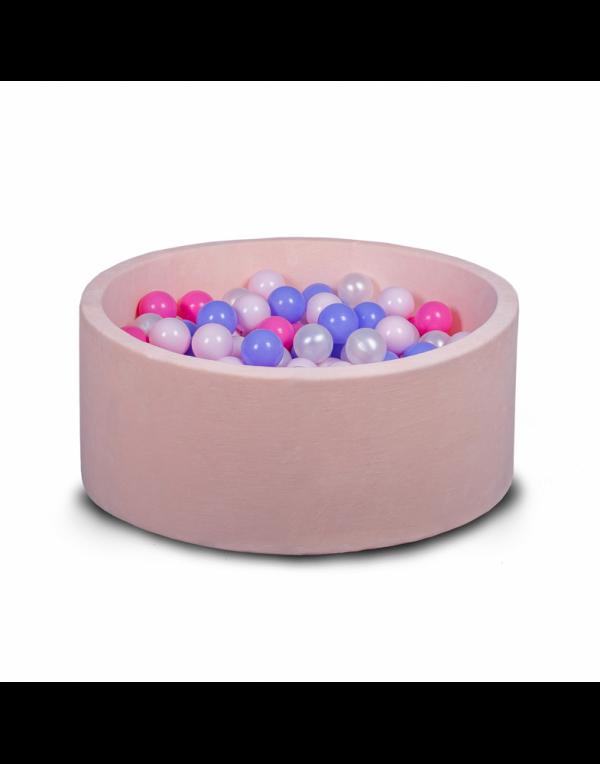 Бассейн для дома сухой, детский, нежно-розовый