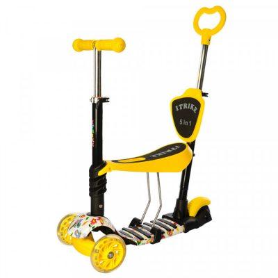 Детский самокат iTrike Maxi 5 в 1 (желтый)
