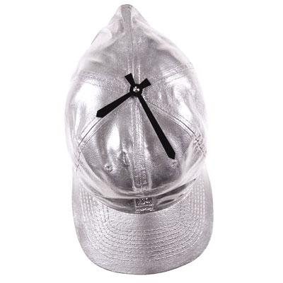 Часы настенные «Кепка», серебристые