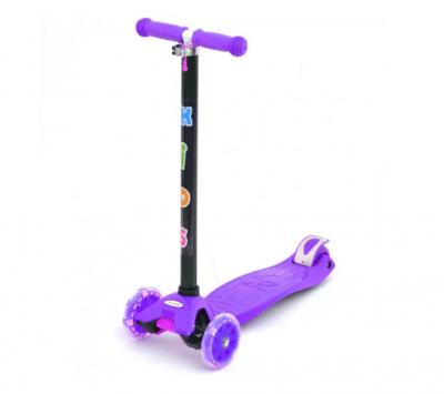 Детский самокат iTrike «Scooter» со светящимися колесами (фиолетовый)