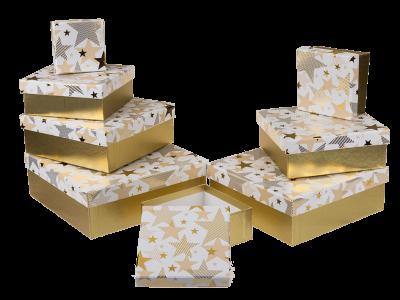 Коробка подарочная золото «Звезда», 20см
