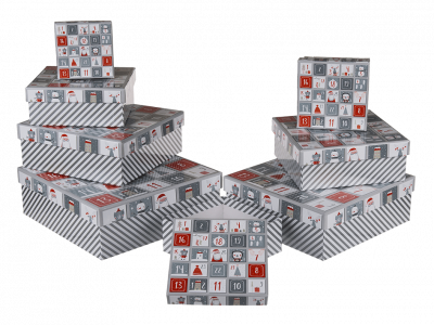 Коробка подарочная серая «Звезды», 20 см
