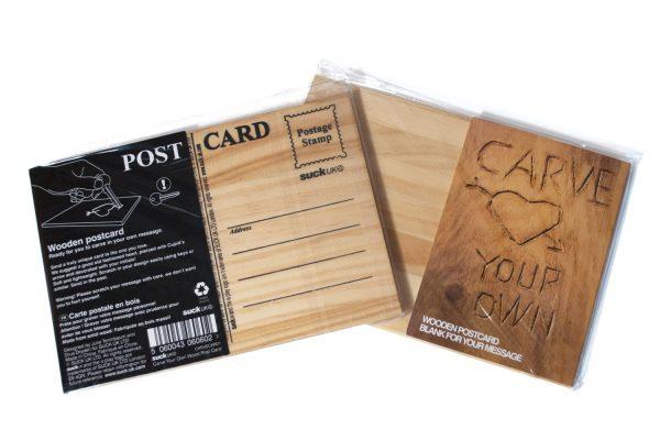 Деревянная открытка «CARVECARD»