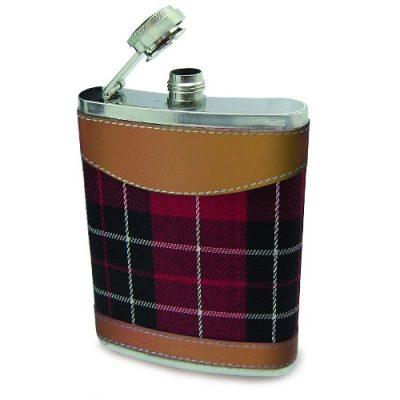 Фляга Шотландский Тартан с фунелью