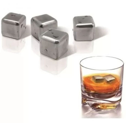 Охлаждающие металлические камни с гелем внутри ICE ROCKS от Vin Bouquet, 4 шт.