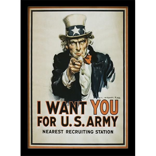 Постер в раме «I Want You» 30 х 40 см