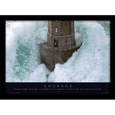 Постер в раме Courage 30 х 40 см