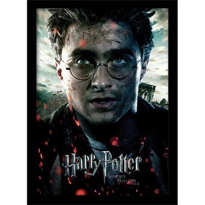 Постер в раме Harry Potter / Гарри Поттер (Deathly Hallows Part 2 - Harry) 30 х 40 см