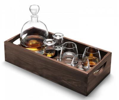 Набор для виски «Whisky» на ореховом подносе 1000 мл + 250 мл