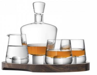 Набор для виски «Whisky Cut» на деревянной подставке 900 мл + 250 мл