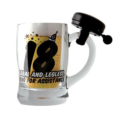 Кружка для пива «18» черная