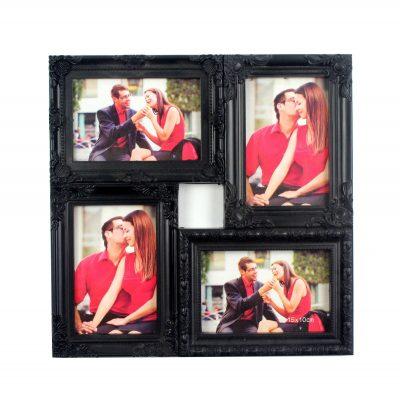 Фоторамка «Самые яркие мгновения» на 4 фото, черная