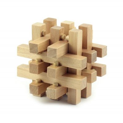 Головоломка «3D-пазл», деревянная второго уровня сложности