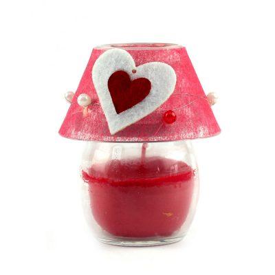 Свеча в подсвечнике «Огонек любви»
